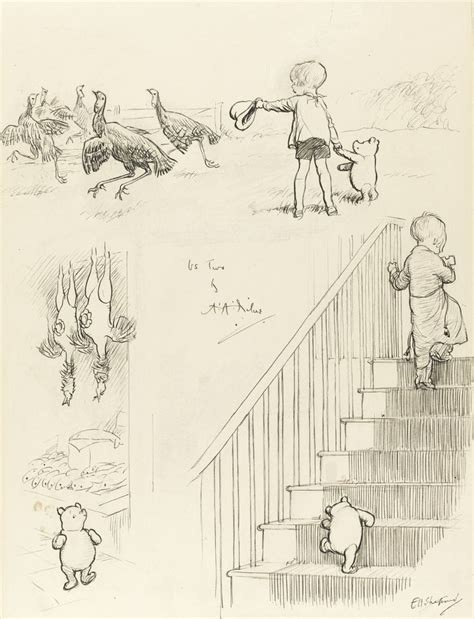 E H Shepard Sketches by 1000 Images About Pooh And Friends Green Piglet Only