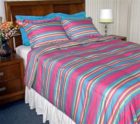 Home Design Down Alternative Comforter Review by Home Design Bedding Printed Stripe Down Alternative