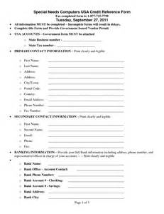 Credit Reference Form Pdf Trade Reference Form Template 28 Images Sle Trade Reference 5 Documents In Pdf Trade
