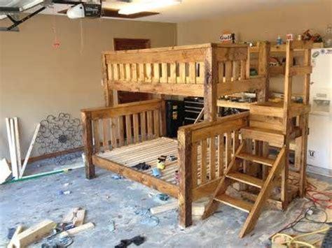 woodworking bunk bed plans full  queen
