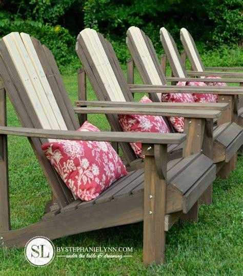 Staining Adirondack Chairs by Staining Adirondack Chairs