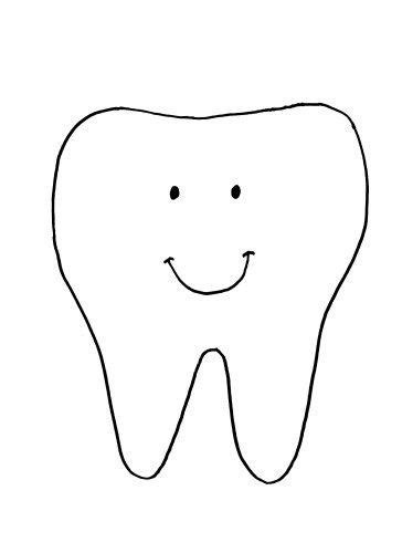 tooth template 30 best health well being crafts activities