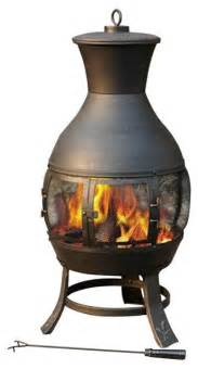 Steel Chiminea Pit Sunjoy Outdoor Pits Steel Chiminea L Cm082pst