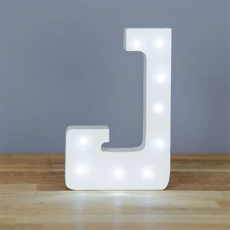 light up letter j home decor barbours