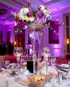 Tall Centerpieces Romantic Photos Of Tall Purple Wedding Centerpieces Wedwebtalks