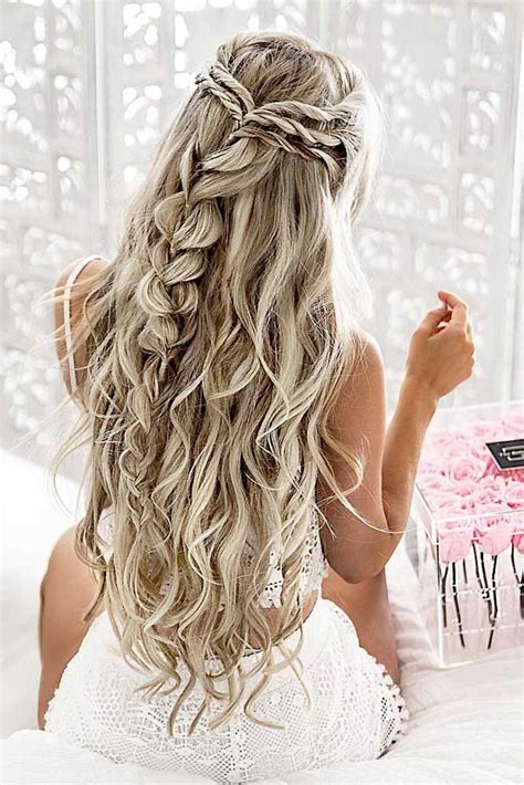 braid hairstyles for long curly hair 65 stunning prom hairstyles for long hair for 2018 prom