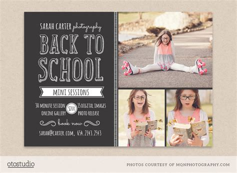 Back To School Mini Session Template Flyer Templates On Creative Market Mini Flyer Template