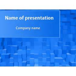 blue square powerpoint template amp background for