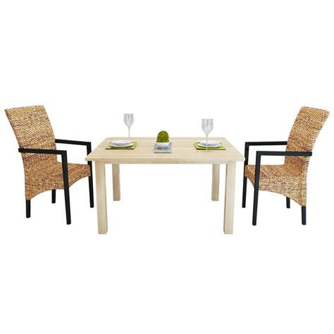 Abaca Dining Chairs Handwoven Abaca Dining Chairs With Armrests 2 Pcs Vidaxl