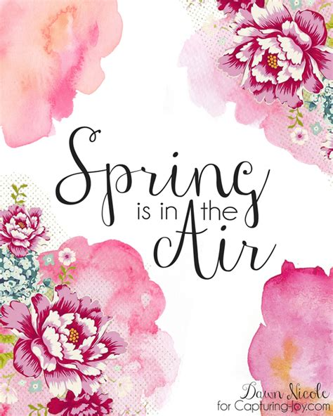 printable spring images spring and easter watercolor printables to decorate your home