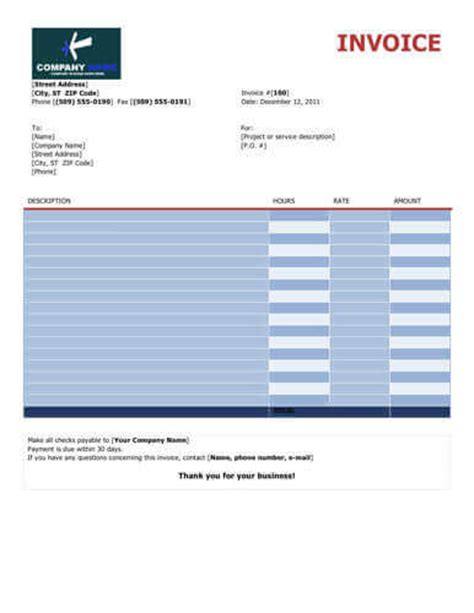 copy invoice template freelance for 10 free freelance invoice templates word excel
