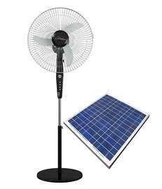 Solar Pedestal Fan eco wing 16 inch hybrid solar pedestal fan with solar