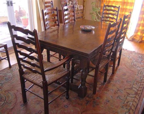 Buy Kitchen Table Set Oak Refectory Table Set Ladderback Chairs Kitchen Dining