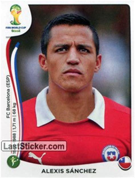 alexis sanchez all cards sticker 164 alexis s 225 nchez panini fifa world cup brazil
