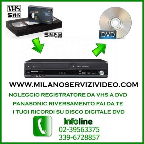lettore cassette hi8 da vhs a dvd da mini dv a cd dvd passaggio travaso