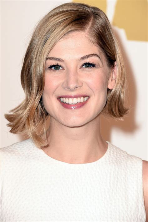 spring short hairstyles at 50 our 10 favorite haircuts for spring rosamund pike