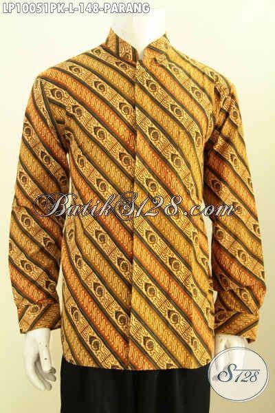 Hem Batik Shanghai baju batik elegan hem batik modis pakaian batik berkelas