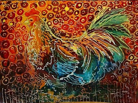 abstract design for batik little rooster batik by marcia baldwin from abstracts