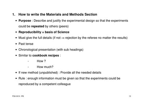 materials and methods section scientific paper