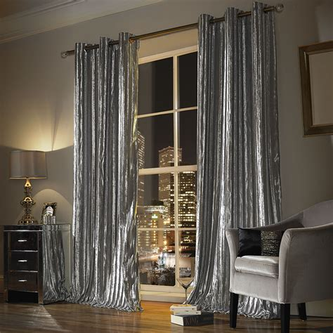 Silver Sheer Curtains Buy Minogue At Home Iliana Lined Eyelet Curtains Silver Amara