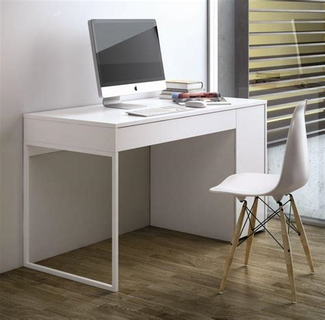 bureau blanc tiroir temahome prado bureau blanc mat avec 1 tiroir et 1 caisson
