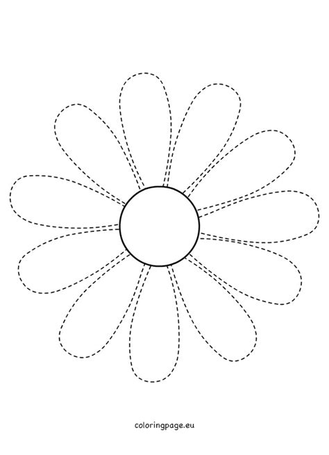 traceable daisy pattern coloring page