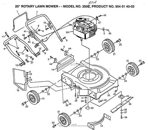husqvarna lawn mower parts diagram husqvarna norlett n350rta rotary 20 quot 954014302 1991 12