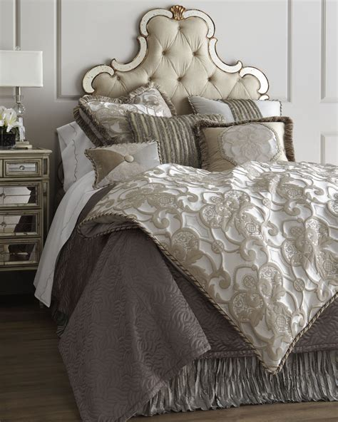 dian austin bedding quot pure pewter quot bed linens horchow for my home bed