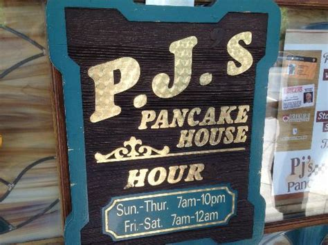 Pancake House Hours by Hours Of Operation Picture Of Pj S Pancake House