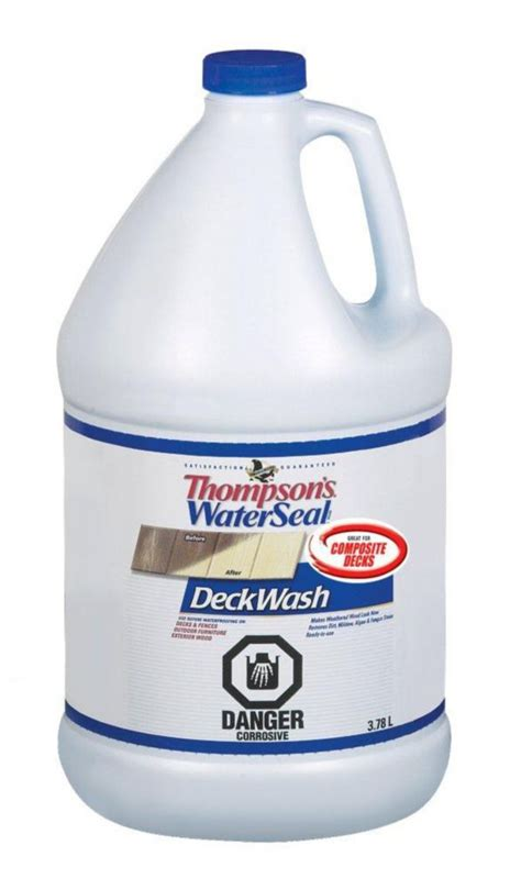 thompson s waterseal thompson s waterseal deck wash the