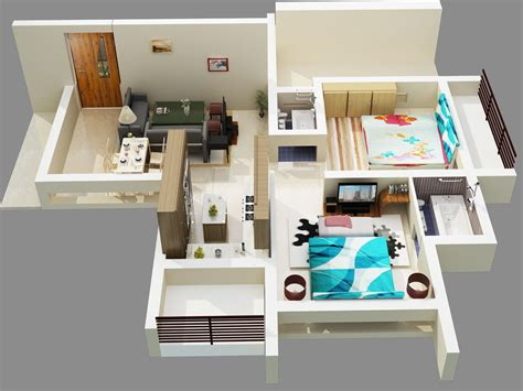 home design 3d 2 bhk cgarchitect professional 3d architectural visualization