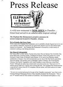 Restaurant Press Release Template by Media Release Swipe File Profit Fuzion Marketing