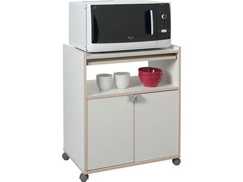 meuble cuisine pour micro onde meuble micro ondes cumin coloris blanc tous les produits
