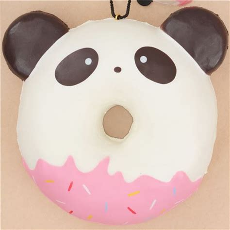 Squishy Cafe Animal Donut Cafe Animal Donut puni maru panda with brown ear donut squishy by puni maru puni maru squishies squishies