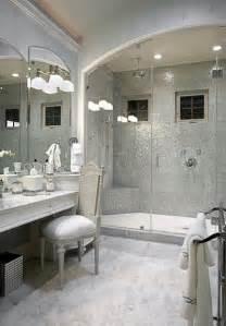 Silver Bathroom Silver Mosaic Tile Transitional Bathroom Knotting