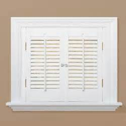 Home Depot Window Shutters Interior Homebasics Traditional Real Wood Snow Interior Shutter Price Varies By Size Qstc2336 The