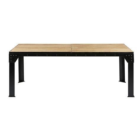 tavolo nero tavolo allungabile per sala da pranzo in mango e metallo