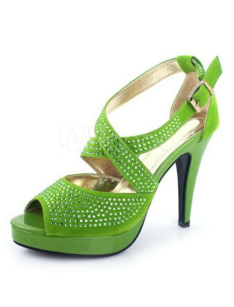green prom shoes and formal heels