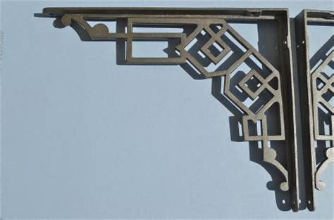 Deco Shelf Brackets by A Pair Of Striking Deco Cast Iron Shelf Brackets