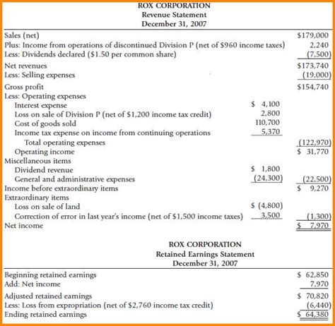6 multi step income statement authorization letter