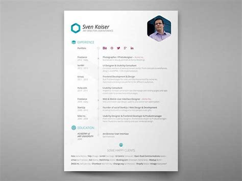 Resume In Photoshop Tutorial