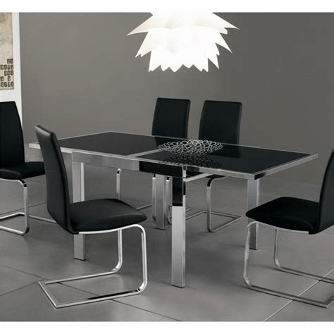 crescendo dining table extendable dining table w black