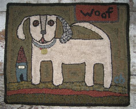 Hooked Rug Patterns Primitive by Primitive Rug Hooking Pattern Woof