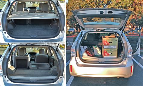 2014 Toyota Corolla Trunk Space How The 2014 Prius V Review Compares To Other Hybrid