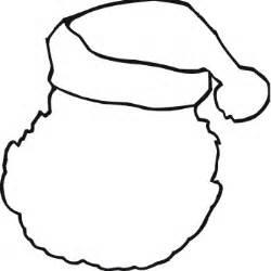 blank santa coloring page santa hat printable clipart best