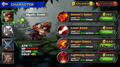 mod game ninja ninja run mod tiền gems game ninja đồ hoạ đẹp cho android