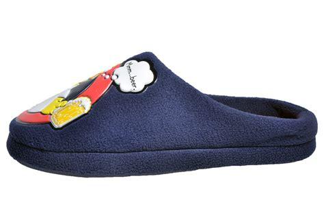 homer slippers homer mens novelty comfy slippers navy ebay