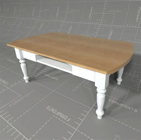 Country Style Coffee Tables Country Style Coffee Table 3d Model Formfonts 3d Models Textures