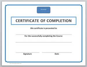 Free Completion Certificate Templates by 13 Free Certificate Templates For Word Microsoft And