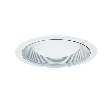 halo 6 in white recessed ceiling light baffle and trim